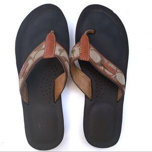 Coach Juanita flip flops size 7.5